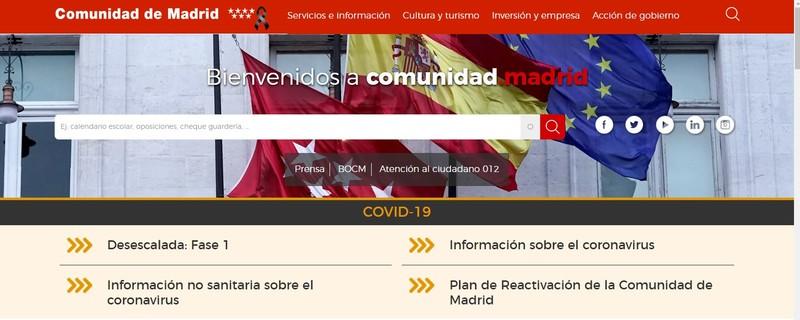 Sitio web comunidad de madrid