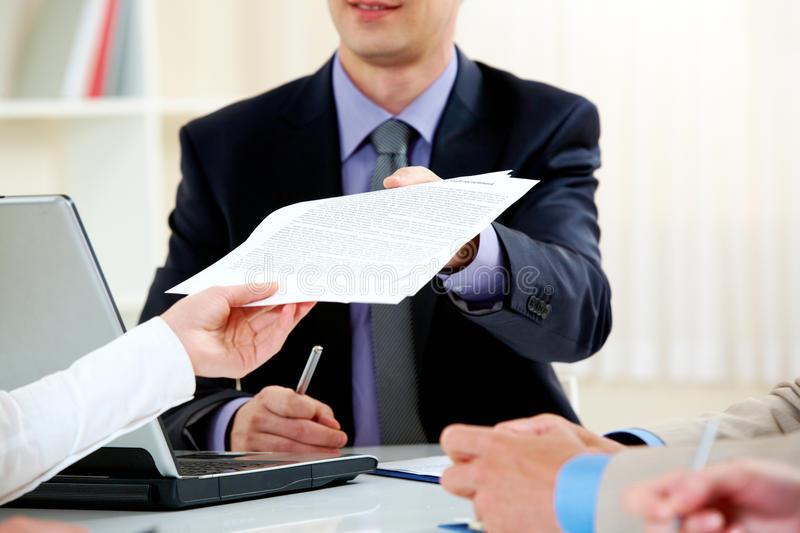 Entrega de documento