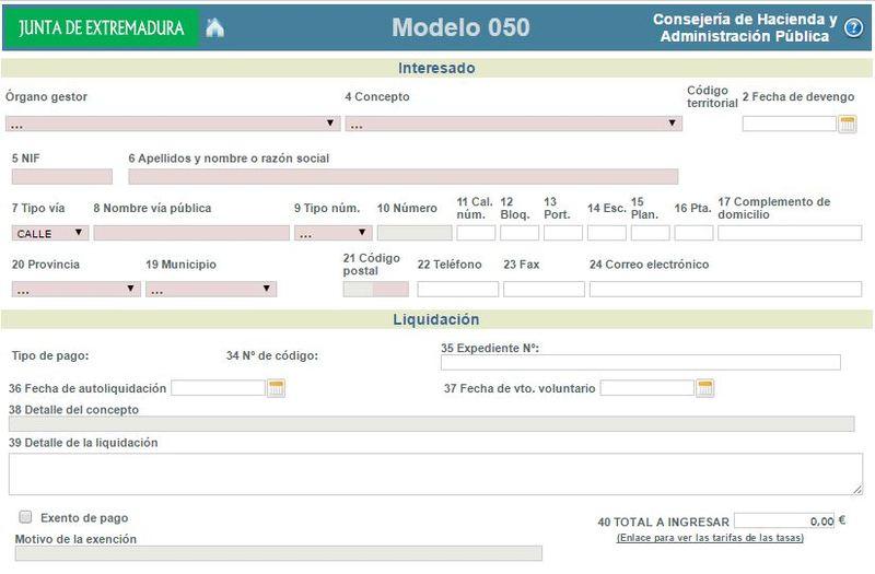 Modelo 050