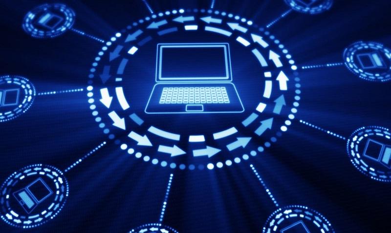 computadora conectada del Modelo OSI