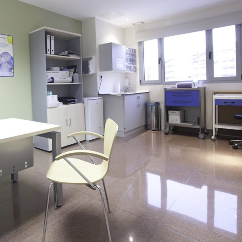 Modelo hospital Coruña sala de espera