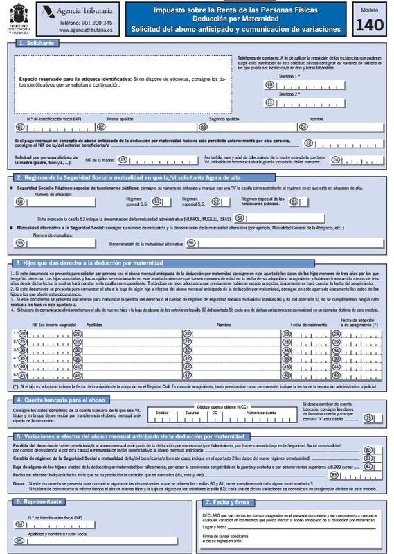 Modelo 140 España PDF