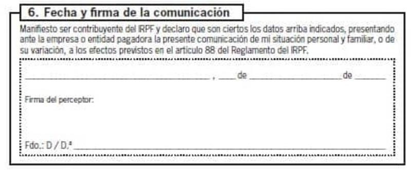 Modelo 145 España apartado 6