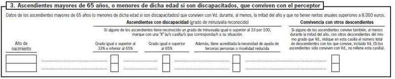 Modelo 145 España apartado 3