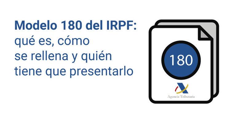 Modelo 180 del IRPF