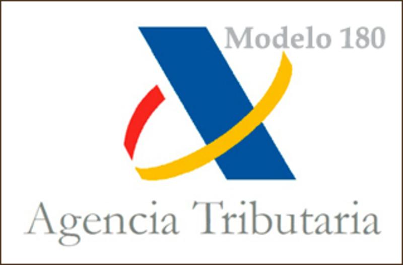 Agencia tributaria modelo 180 españa