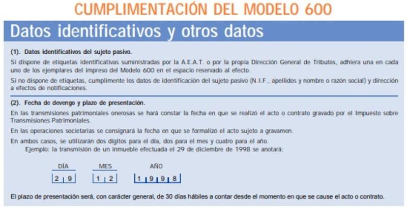 Modelo 600 España 10