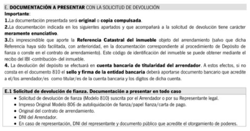 Modelo 810 documentación a presentar