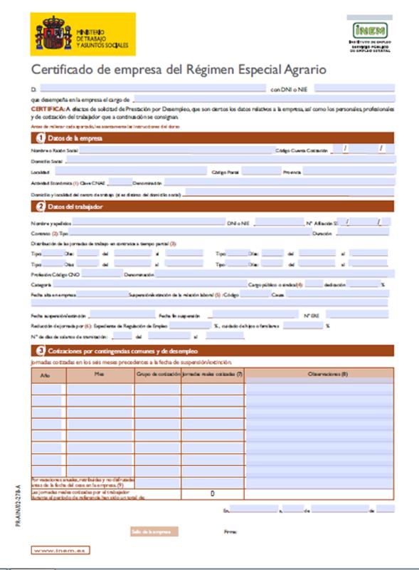 Modelo certificado de empresa o laboral
