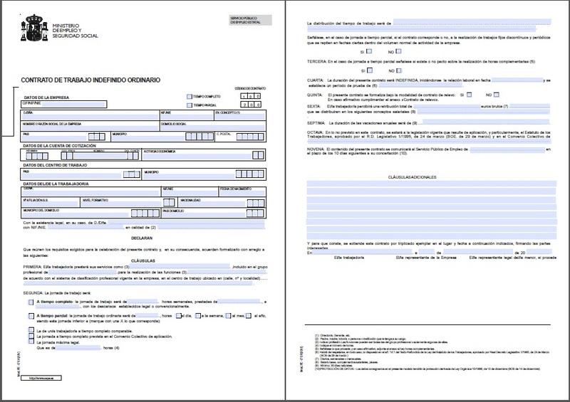 Modelo contrato indefinido fijo discontinuo 2