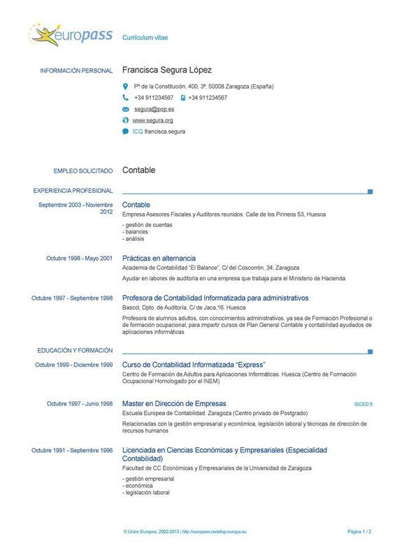 Modelo Curriculum Vitae 4