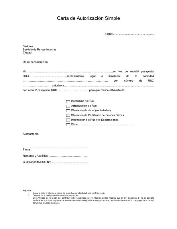 Modelo de autorización para trámites de documentos