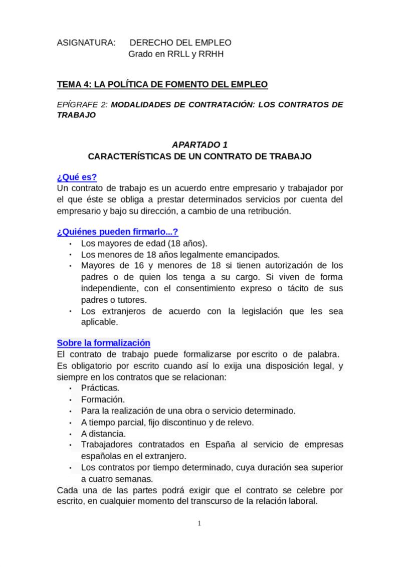 Modelo de contrato de trabajo documento de politicas