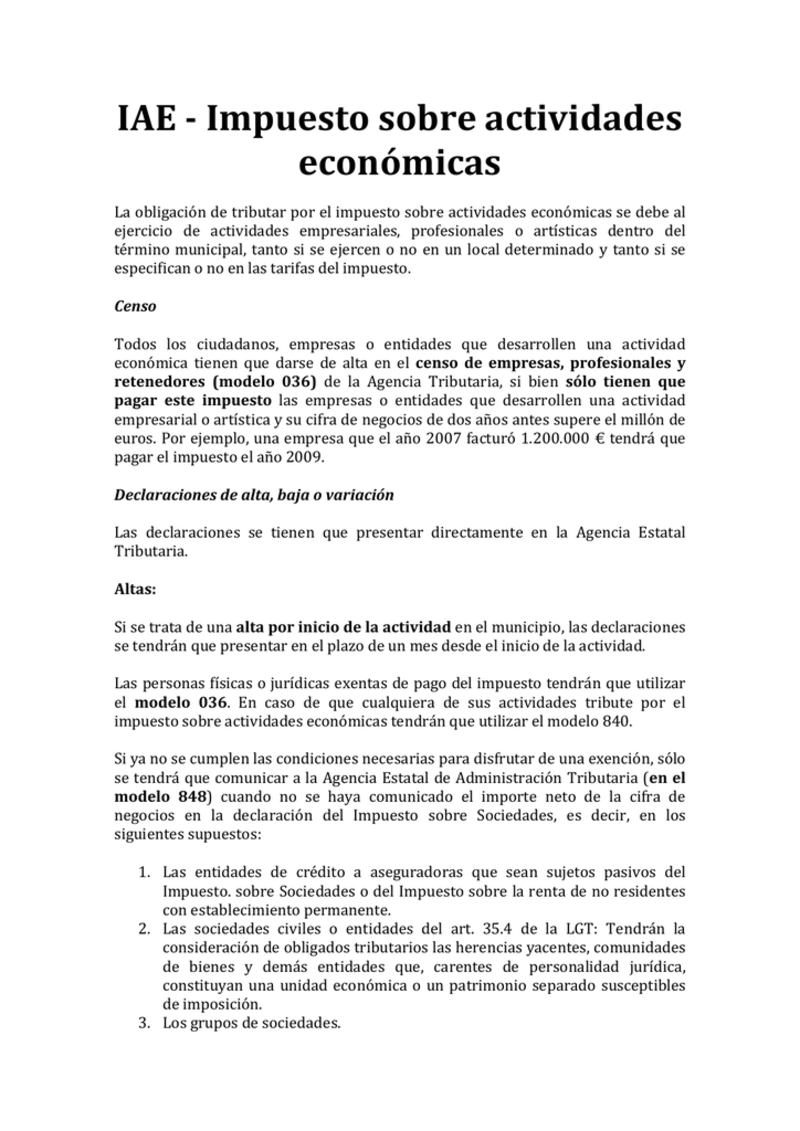 ejemplo del Modelo IAE