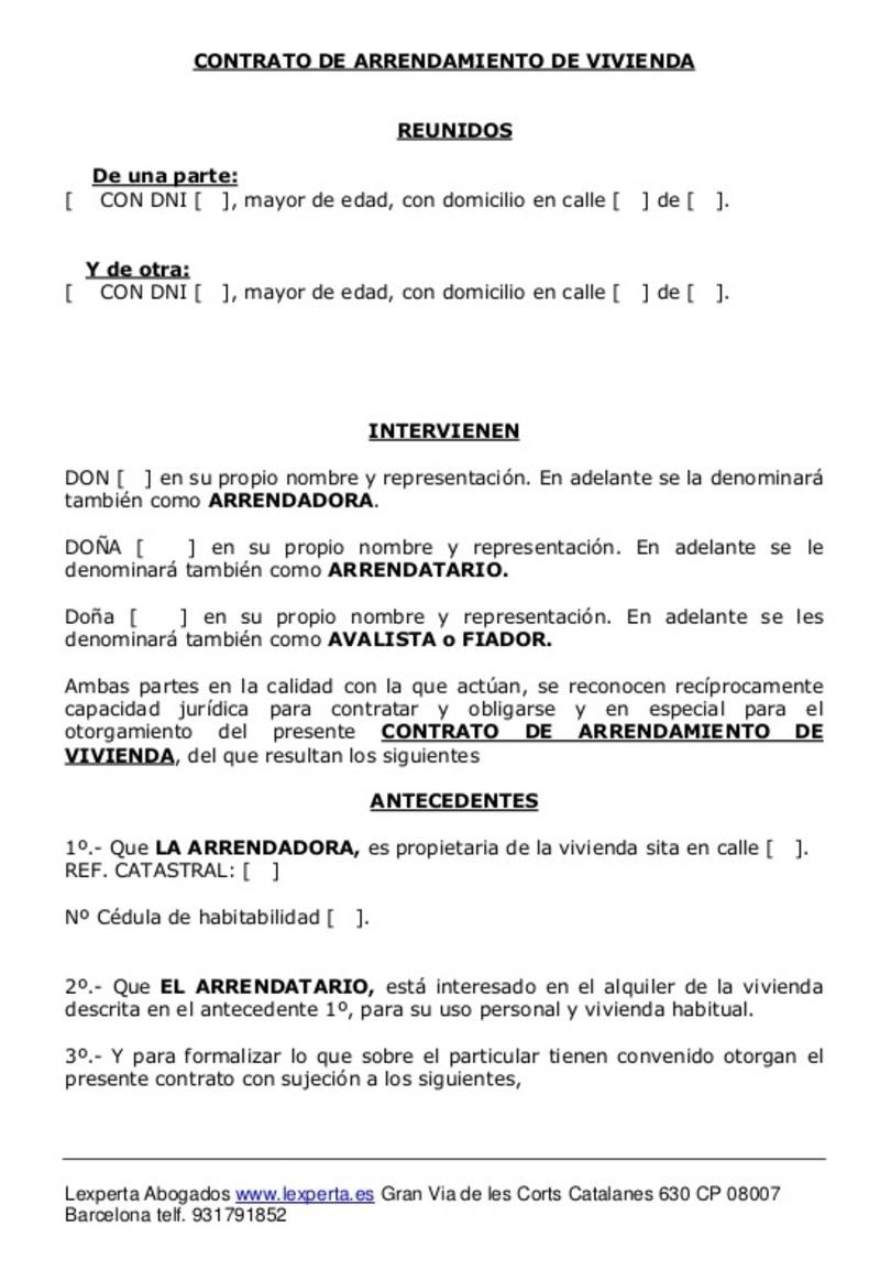 documento del Modelo prórroga contrato alquiler