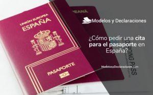¿Cómo puedo pedir Cita para el Pasaporte Español?